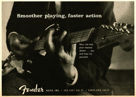 1957 - fender: smoother playing faster actoion