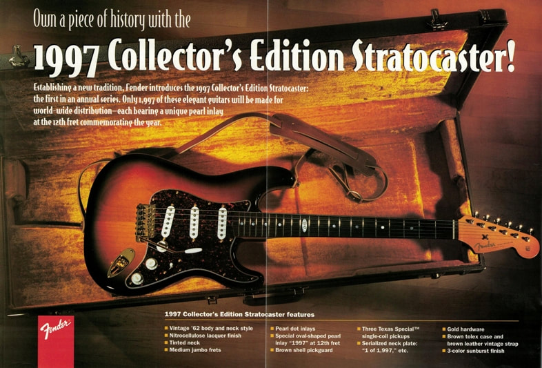 1997 Collector's Edition Stratocaster advert
