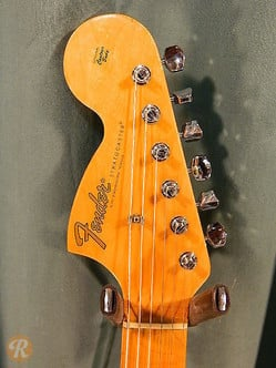 The reverse headstock of the Voodoo Stratocaster had a