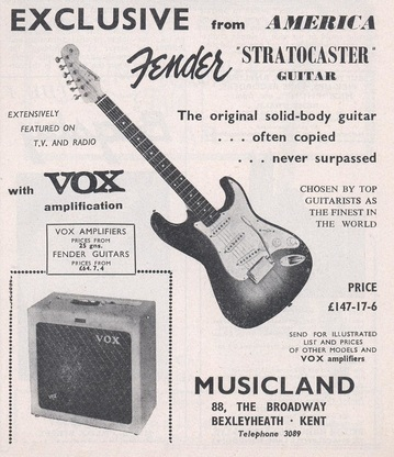 1960 Advertisement for the Fender Stratocaster Guitar