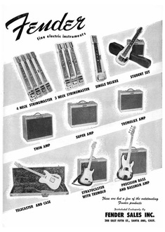 1955 - Fender: fine electric Instruments
