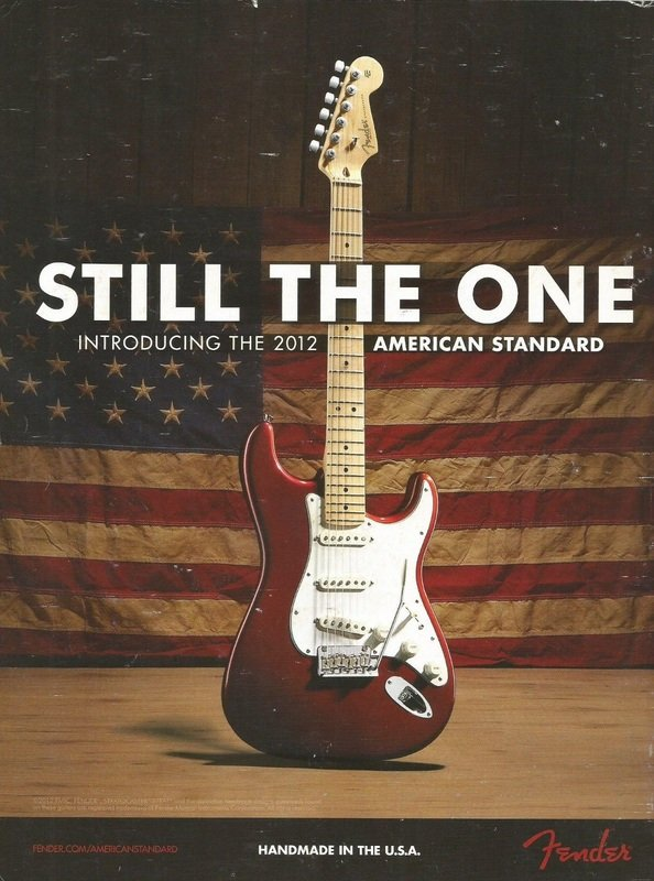 2012 - Fender American Standard Stratocaster - Still the one