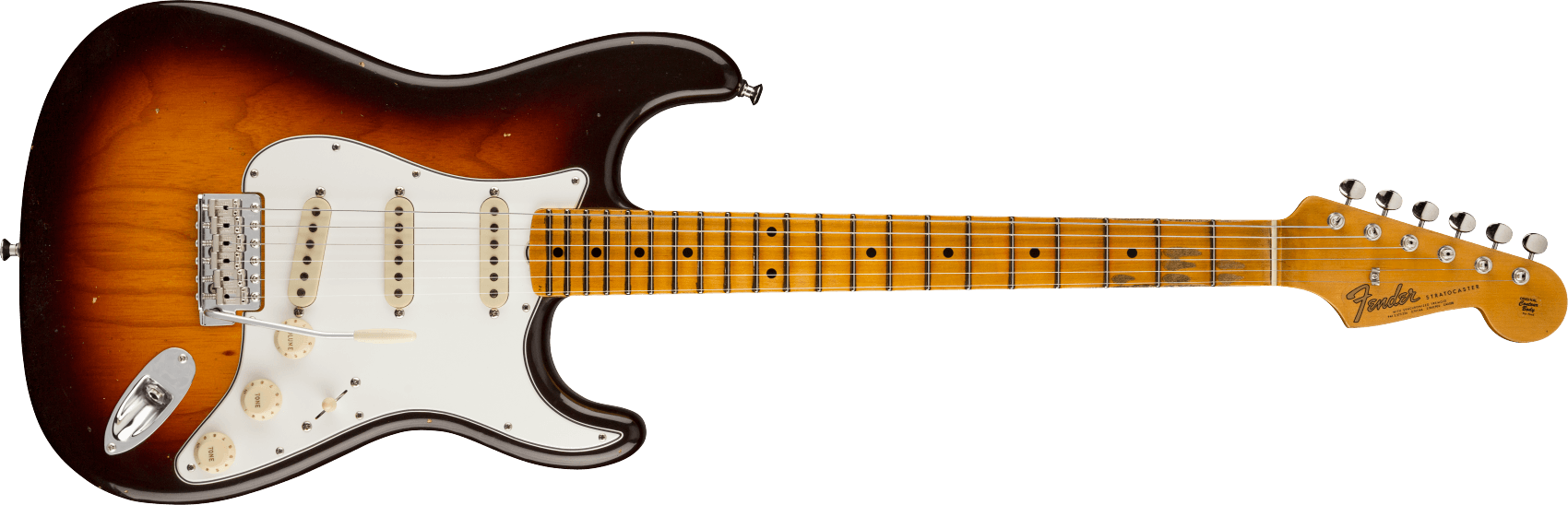 9231012918: Maple Fingerboard, Wide-Fade Chocolate 2-Color Sunburst