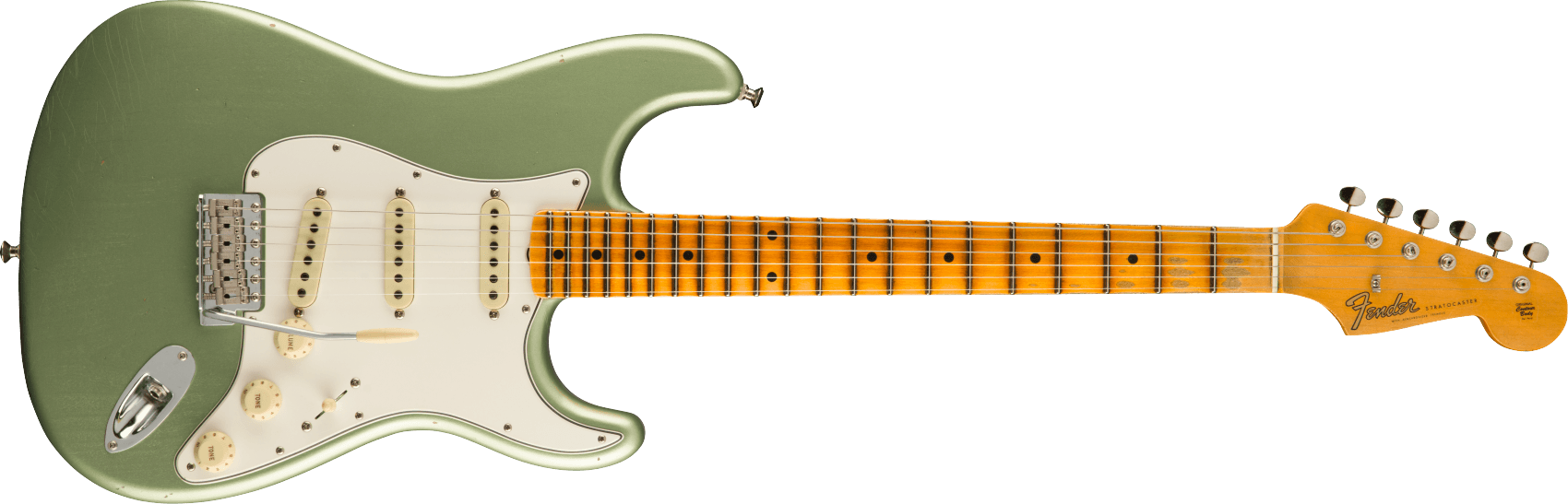 9231012920: Maple Fingerboard, Faded Aged Sage Green Metallic