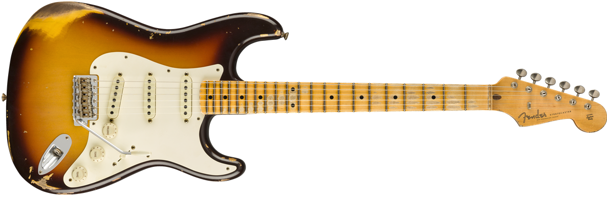 9235000815: Maple Neck, Faded Chocolate 3-Color Sunburst