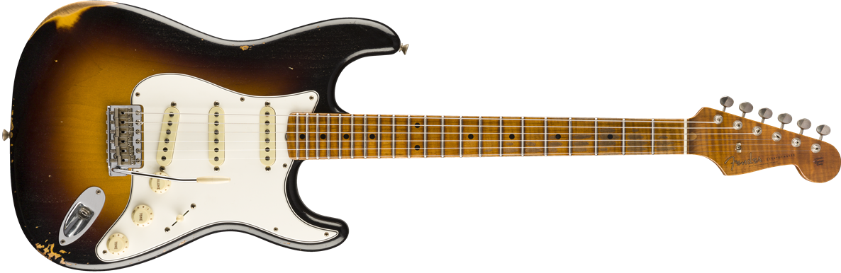9235000872: Maple Neck, Wide Fade 2-Color Sunburst
