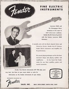 1955 advertisement Lawrence Welk & Buddy Merrill
