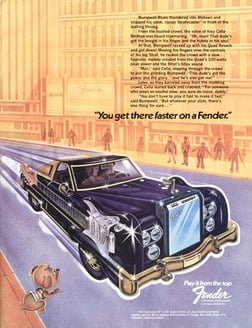 1974 - You get there faster on a Fender