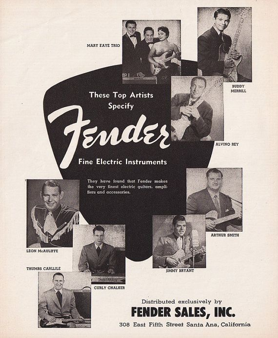 1956  These top artists specify Fender