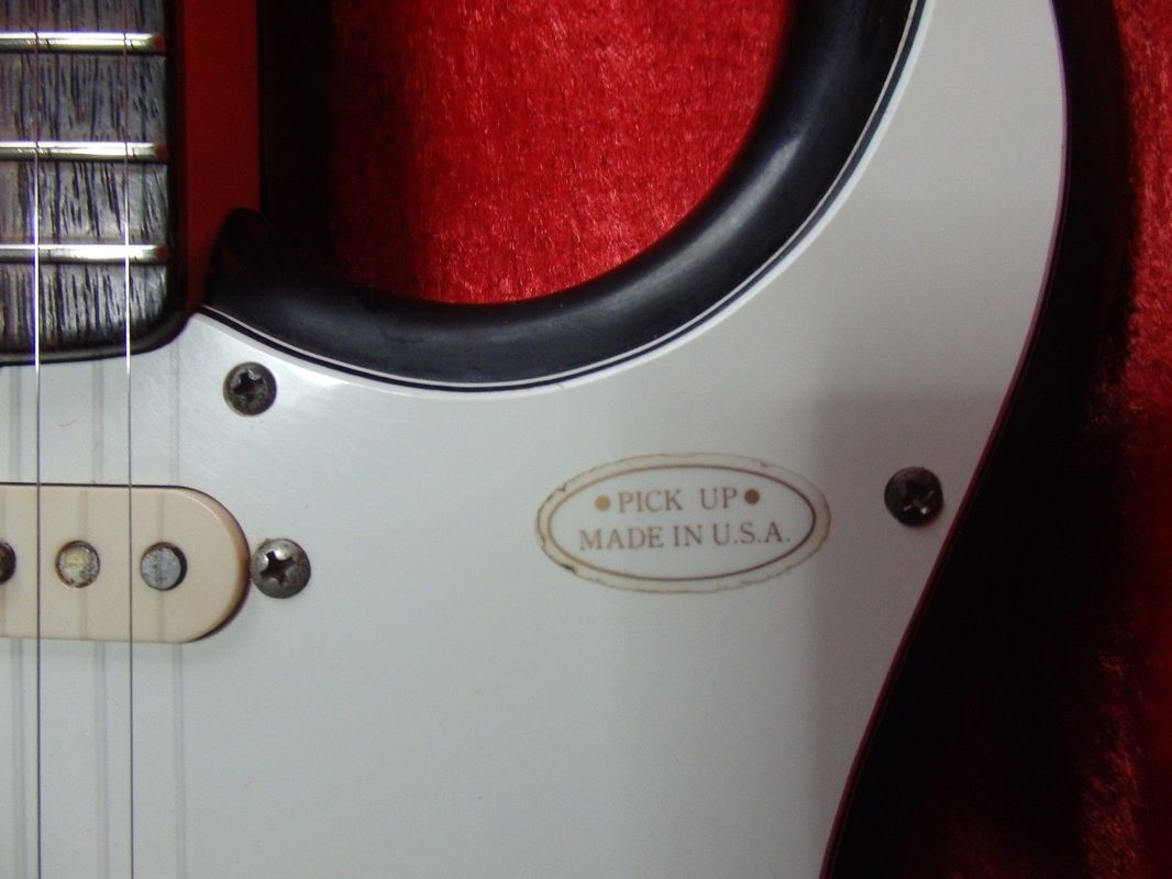 Pickguard of a ST-115 Stratocaster. Many first domestic JV guitars fetaure