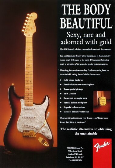 1993 Special Edition Stratocaster advert