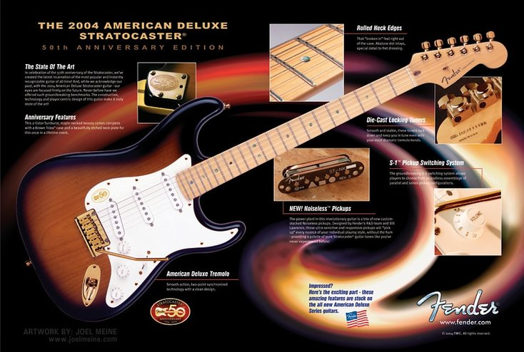 American Deluxe Series Anniversary Stratocaster (2004 Fender catalog)
