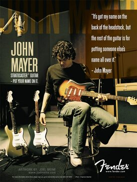 2005 John Mayer Stratocaster advert