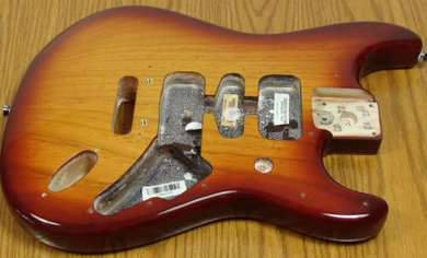 HSH routing on an American Standard Stratocaster, Second Series