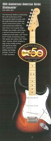 50th American Stratocaster, 2004 Fender catalog