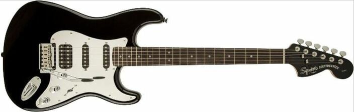 Squier Black And Chrome Stratocaster HSS