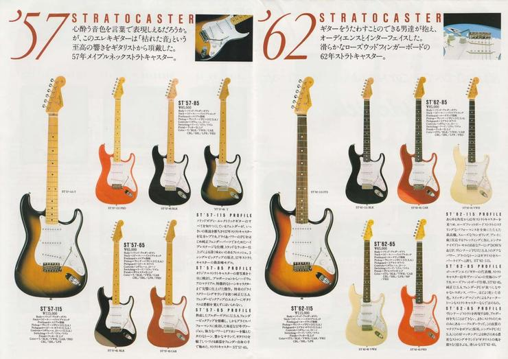 Catalogo Fender Japan (domestic) del 1983