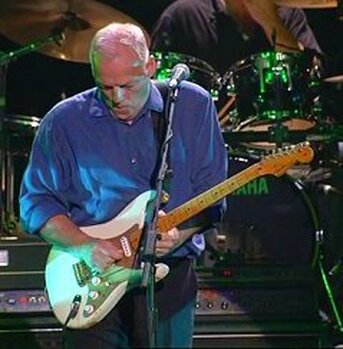 Gilmour at Wembley with his  0001 Stratocaster