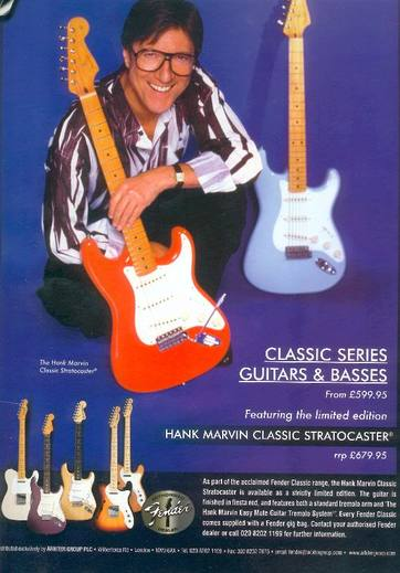 Hank Marvin Classic Stratocaster advert