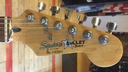 First Bullet Stratocaster headstock