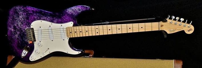 An aluminum body Strat Plus in Violet Metal Burst finish