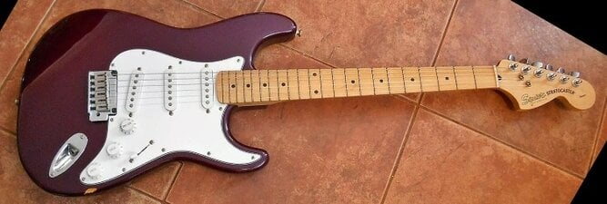 2001 Squier Standard Stratocaster, with the new twin pivot bridge