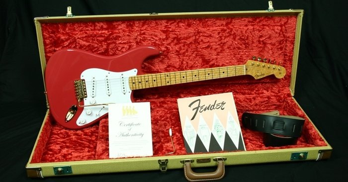 Dealer Select 1959 Stratocaster NOS Custom Red, also called The Shadows 50th Anniversary Collector Outfit