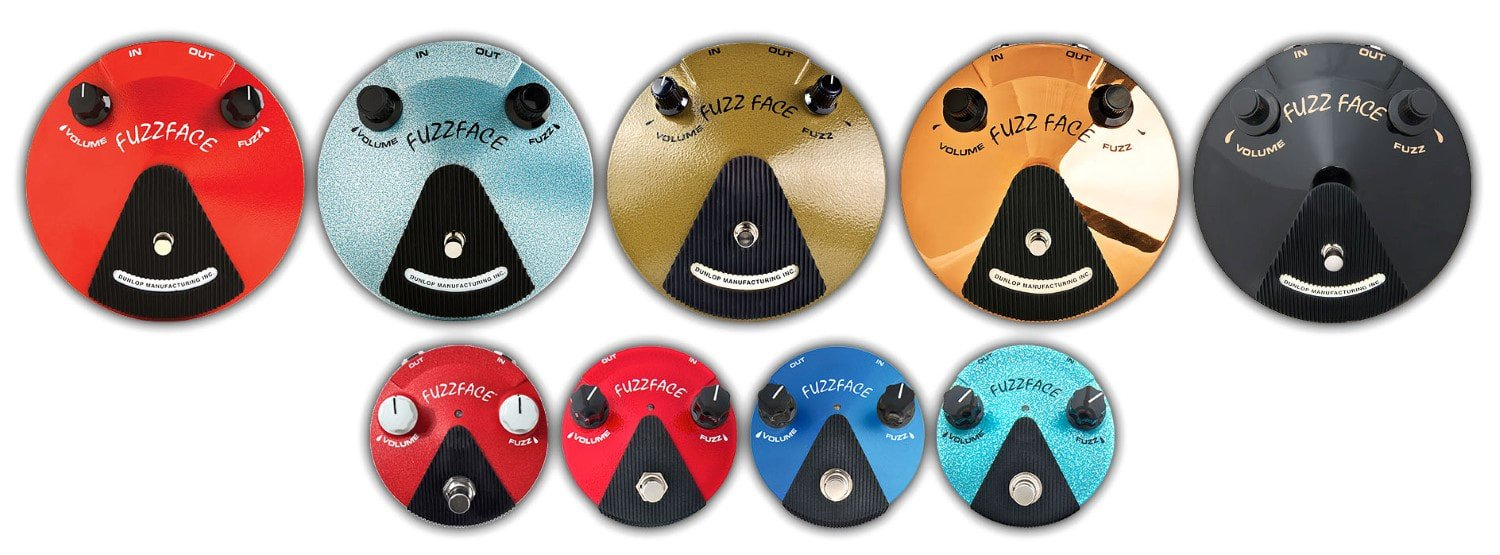 A few Fuzz Face reissues by Dunlop,