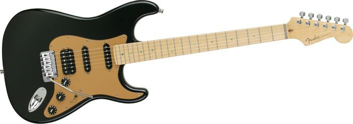 American Deluxe Strat HSS with Locking Tremolo Montego Black (courtesy of Fender)