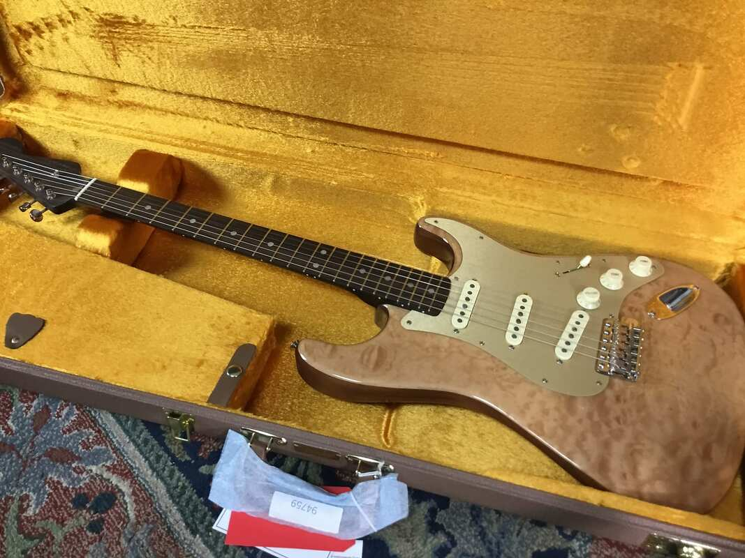 Rarities Quilt Maple Top Stratocaster (2019) - Fuzzfaced