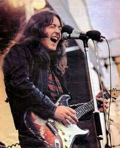 Rory Gallagher nel 1970 all'Isola di Wight