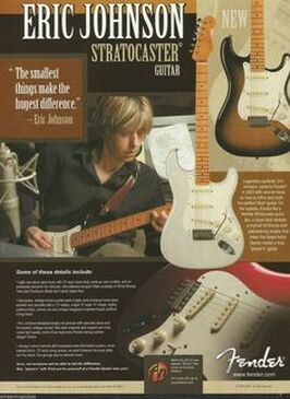 Advert del 2005 della Eric Johnson Stratocaster