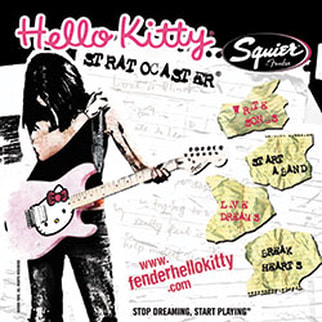 Hello Kitty Stratocaster advert
