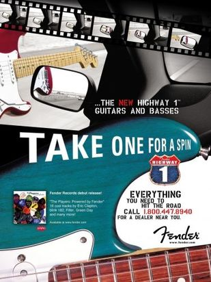 Advert dell'Highway One Stratocaster