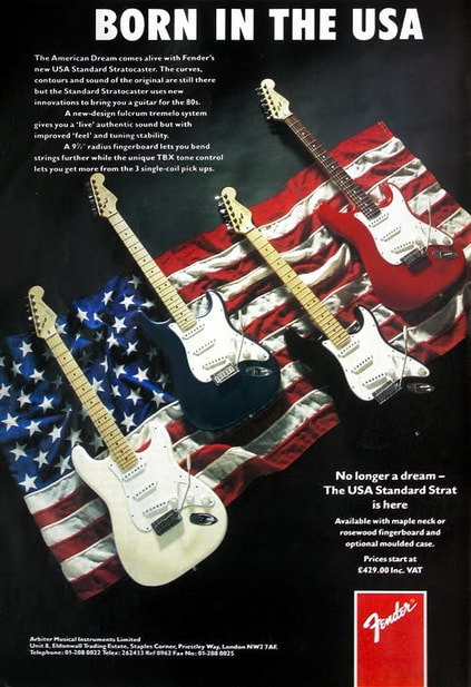 1987 American Standard Stratocaster advert