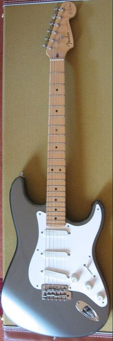 The new factory Clapton Stratocaster, first series, dated 1996, Pewter finish, without mini switch and with 22 frets