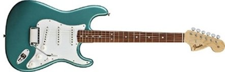 Una '66 Stratocaster NOS Teal Green Metallic (Catalogo Fender)