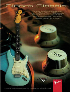 Advert of the new Closet Classic finish of the Time Machine Series, Fender Frontline