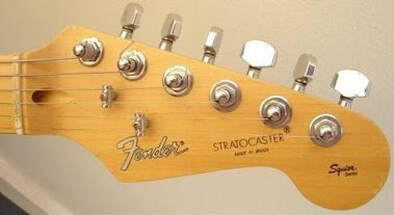 Early Southern Cross Stratocaster headstock with