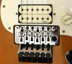 Floyd Rose Bridge and Di Marzio humbucking pickup on a HRR '60s