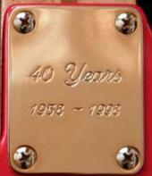 Hank Marvin 40th strat neck plate