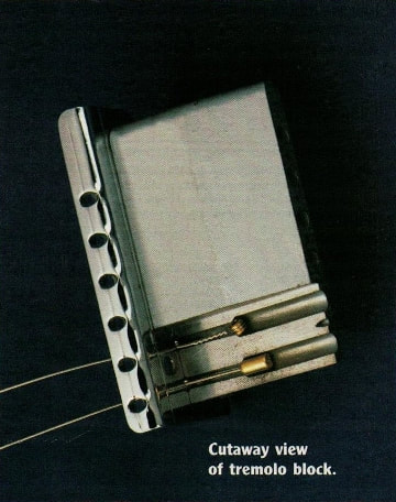 Cutaway view of the Tremolo Block