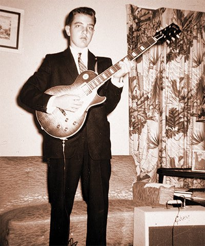 Tom Griffths con la sua Les Paul