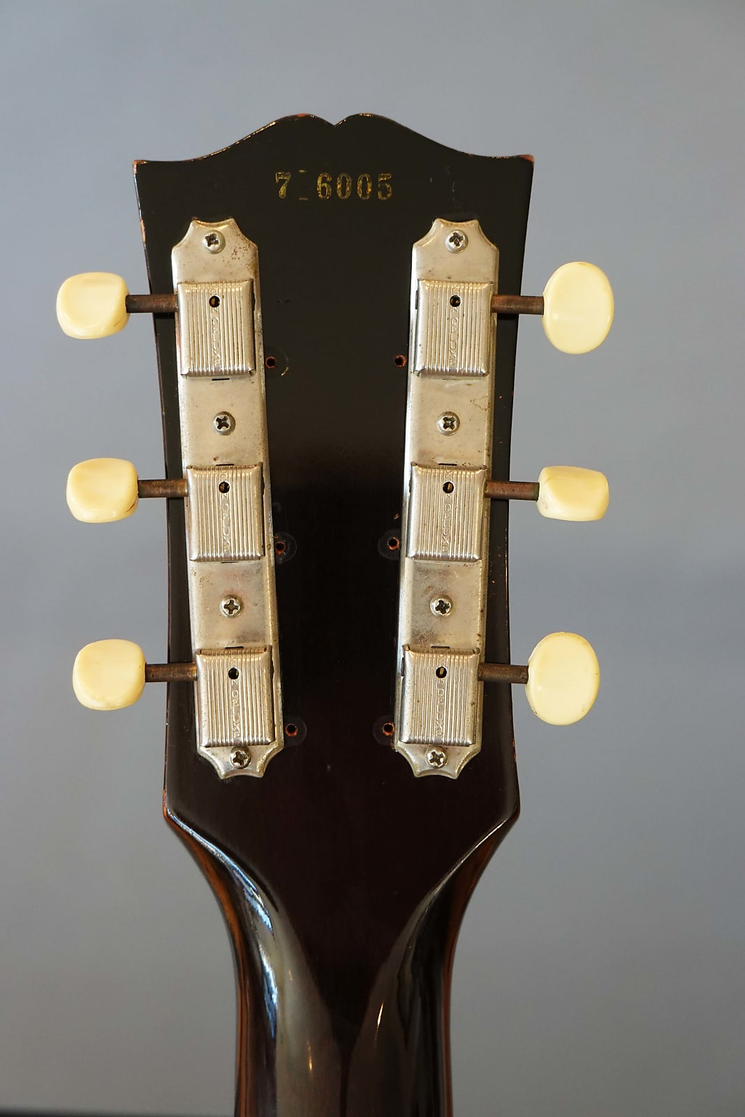 Meccaniche 3 on a plate della Les Paul Junior (Courtesy of Vintage Guitar Buyers)